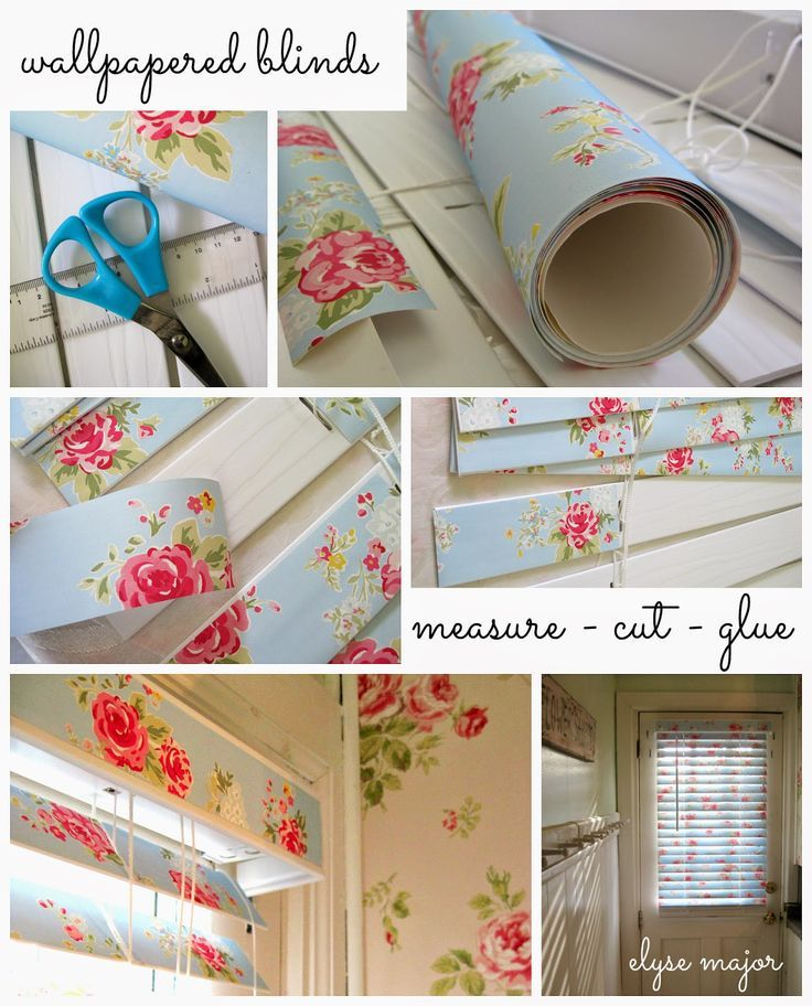 tinkered treasures: tinkering project: love is (wallpapered) blinds: