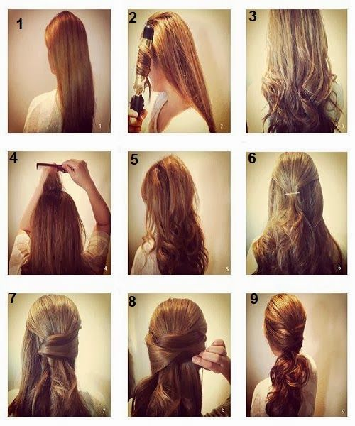Pictures Of Simple Hairstyle Tutorial Step By Step Pictures