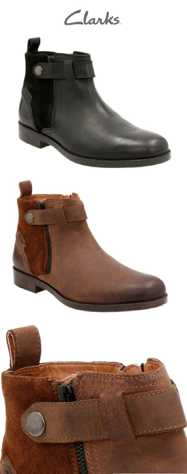 Clarks Brocton Mid in tan leather is a perfect transitional boot to wear this winter season. The double side zippers and heel loop allow you to easily slip on these comfortable shoes. Dress them up or down whether you're hanging out with friends or going to a nice dinner. You'll look stylish and chic either way.