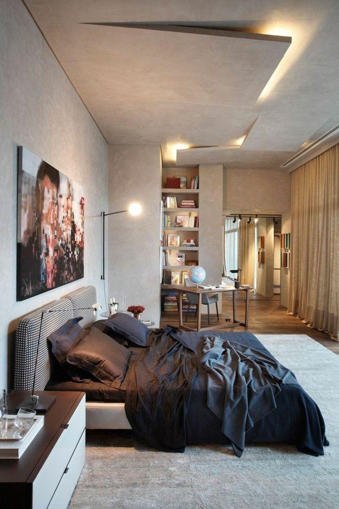 Nice deckengestaltung im schlafzimmer ausgefallenes design mit herrlicher beleuchtung