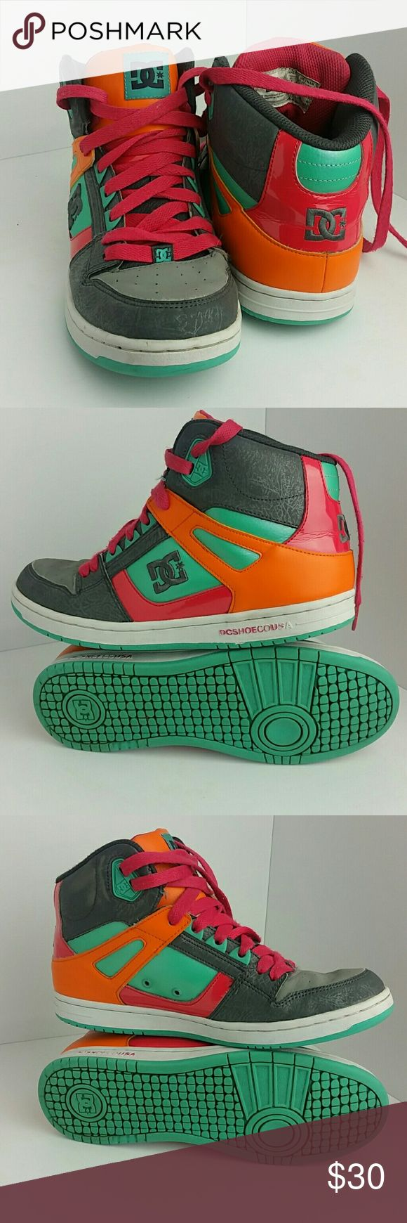 DC SHOES REBOUND HI WOMEN SHOES IN GOOD CONDITION SKE # ZM dc shoes Shoes Sneakers