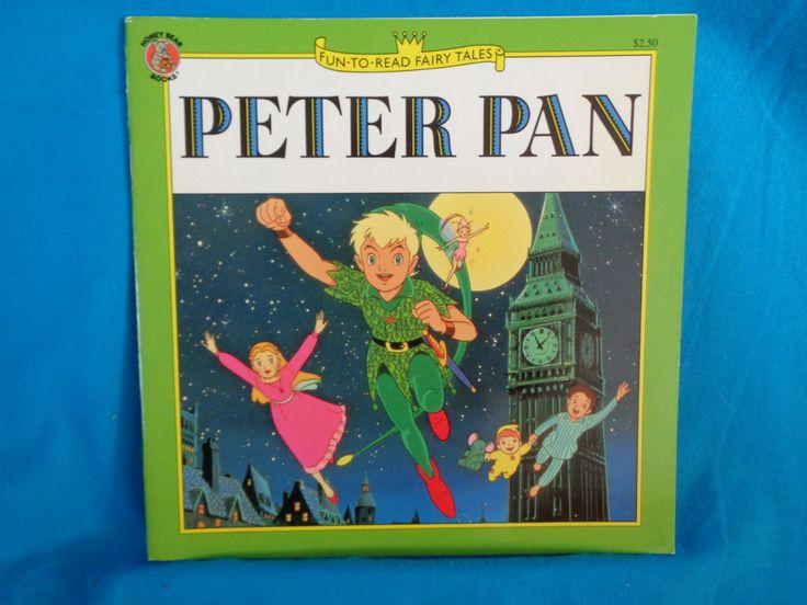 Vintage 1991 Fun To Read Fairy Tales Peter Pan Book