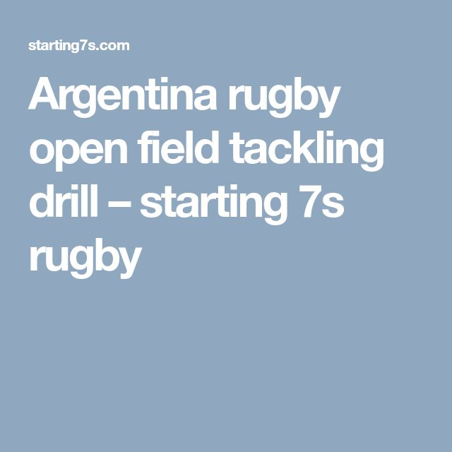 Argentina rugby open field tackling drill – starting 7s rugby