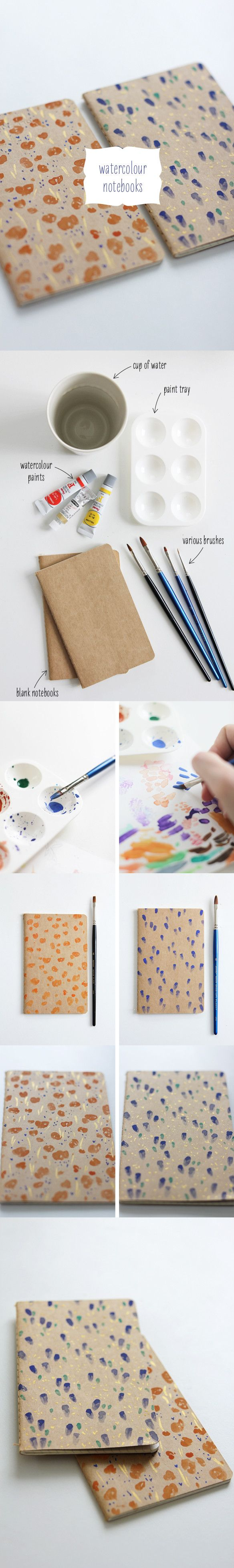 Normalmente no compran libretas sin diseños porque son aburridas .. pero con un poco de Imaginacion y pintura Quedan super Bonitas ! C: