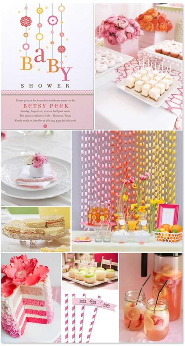 A perfect, summery baby girl baby shower theme!