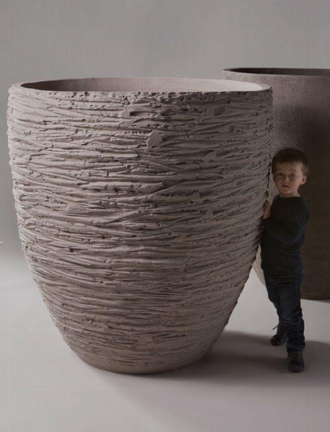 grosse Dimension eines Pflanzengefässes (handgemacht) Atelier Vierkant