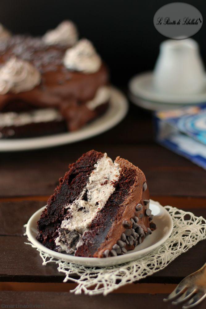 torta al cioccolato e crema Oreo