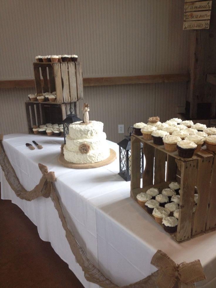 Rustic Wedding Cupcake Display