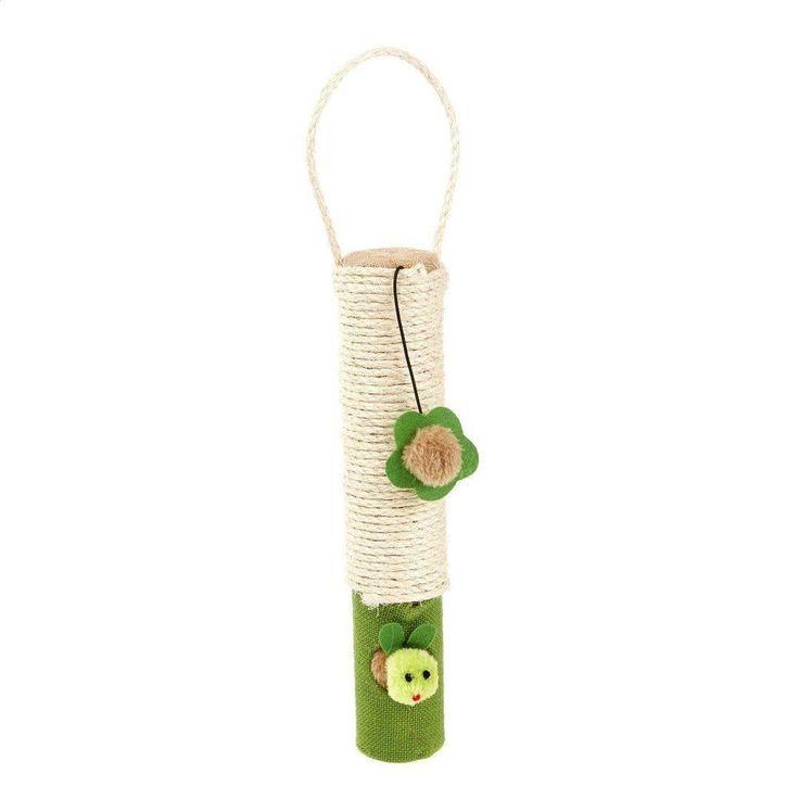 Pet Kitten Cat Scratching Post Sea Grass Rope Jute Door Canvas Hanging Pole Toy