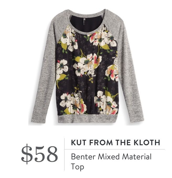 Kut from the Kloth Benter Mixed Material Top