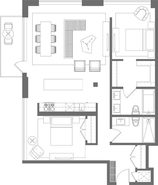 430 best images about appartement plans on pinterest How much to paint a two bedroom apartment