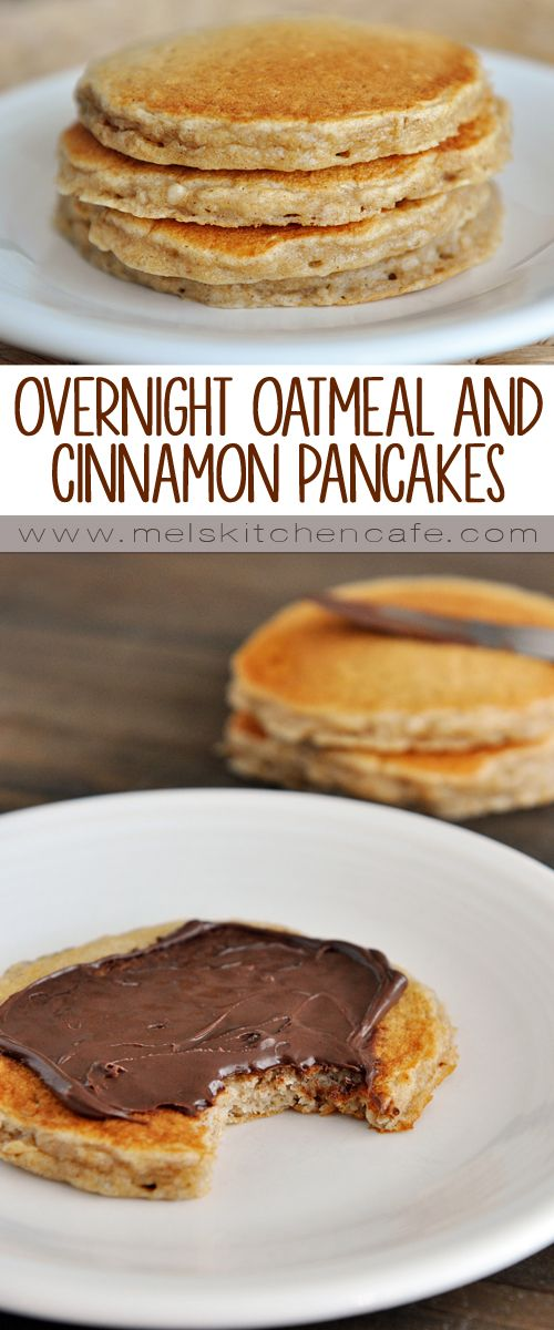 Overnight Oatmeal and Cinnamon Pancakes - whip up the batter the night before and it makes the morning of an absolute breeze.