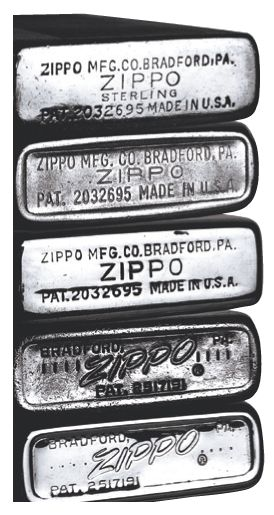 Dating zippo lighters