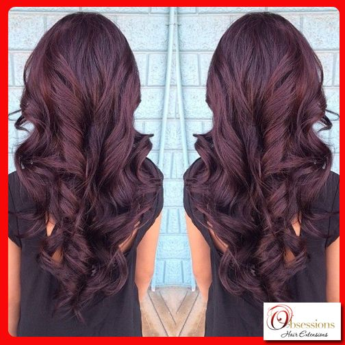 We love this violet brown hair colour, what about you ...