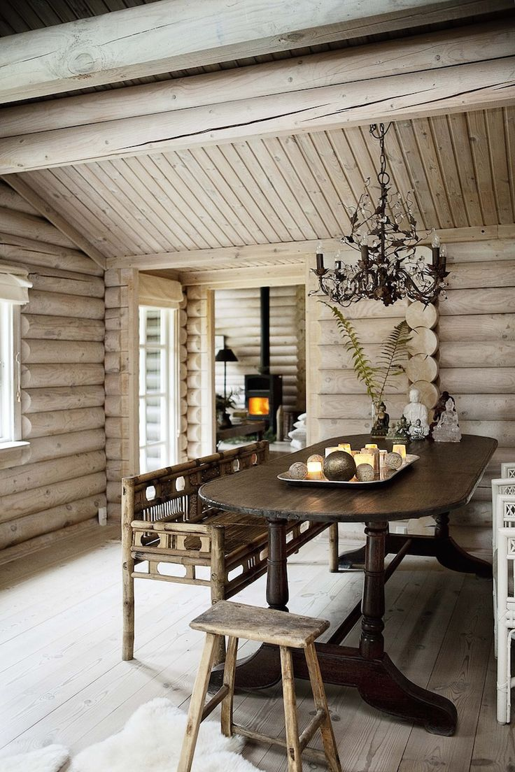 Combining the rustic style and black stained log this stunning house is a dream come true for anyone enjoying the pure nature and natural design element both in architecture and interiors. The atmosphere inside sets you in a calm mode. Bright interiors with lots of wood all around takes you as close to the nature as can get. Harmonic color palette and the black twist of the walls outside giving a nice contrast for otherwise light interiors makes this house a perfect match. For a deeper…