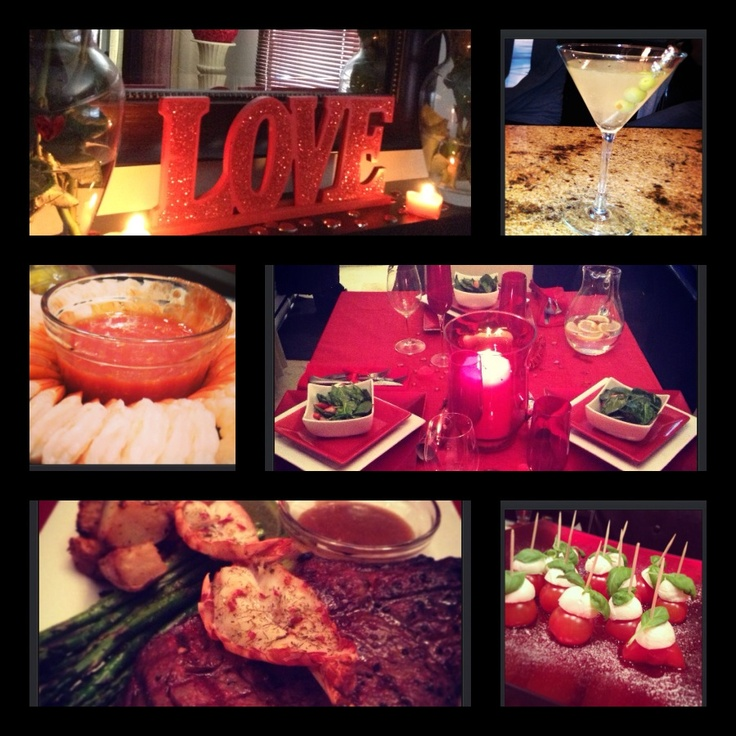 valentine's dinner at home
