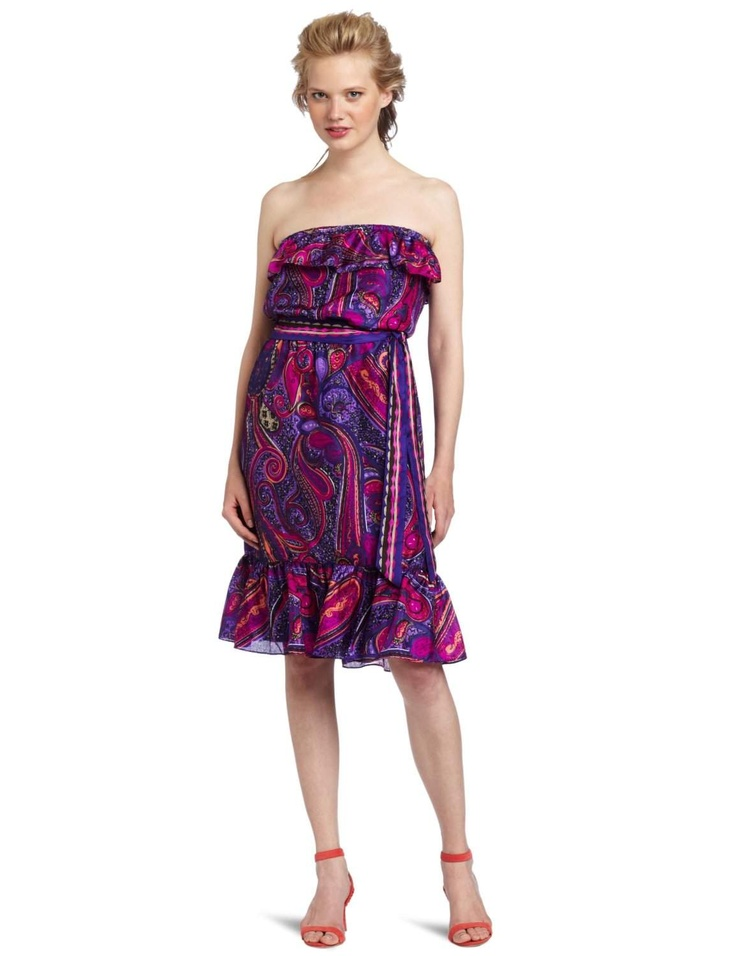 Trina Turk Women's Henna Strapless Dress http://click-this-info.tk/TrinaTurk