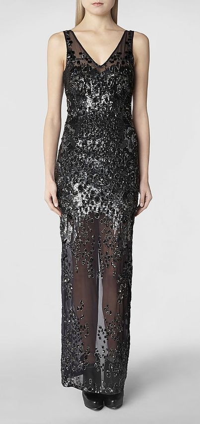 Womens Cicily Gown (Graphite)