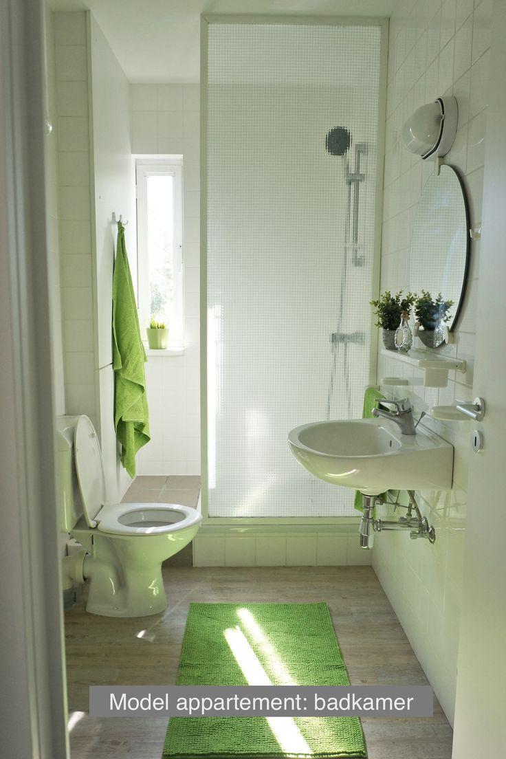 Inrichting model appartement - badkamer
