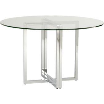 """$299.00 @ CB2    silverado round dining table    48""""dia.x29.25""""H"""
