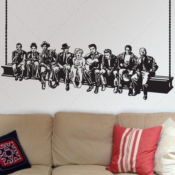Lanche dos famosos hollywood decora o em vinil - Papel de pared decorativo ...