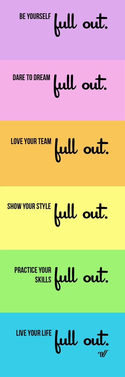 Live your life full out. #VarsityStyle