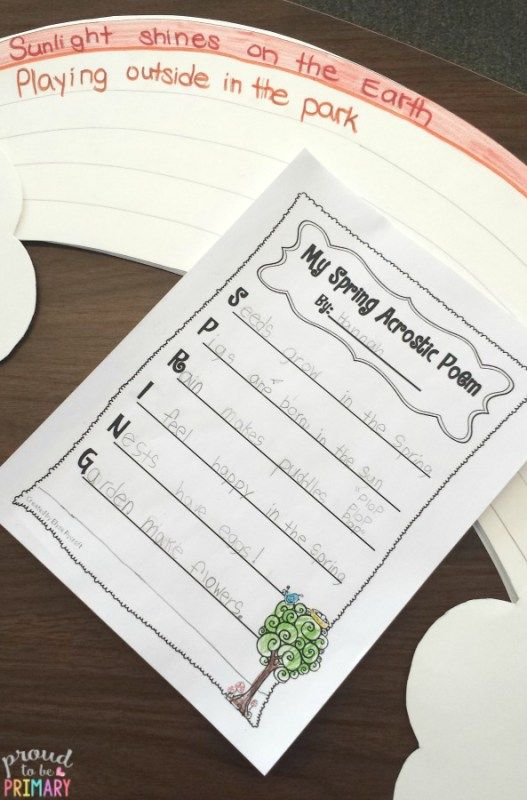 How to write an acrostic poem for spring