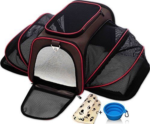 Pet Carrier Purse Small Dogs Pet Crate Travel Blanket Bowl Airline Pet Carrier #AirlinePetCarrier