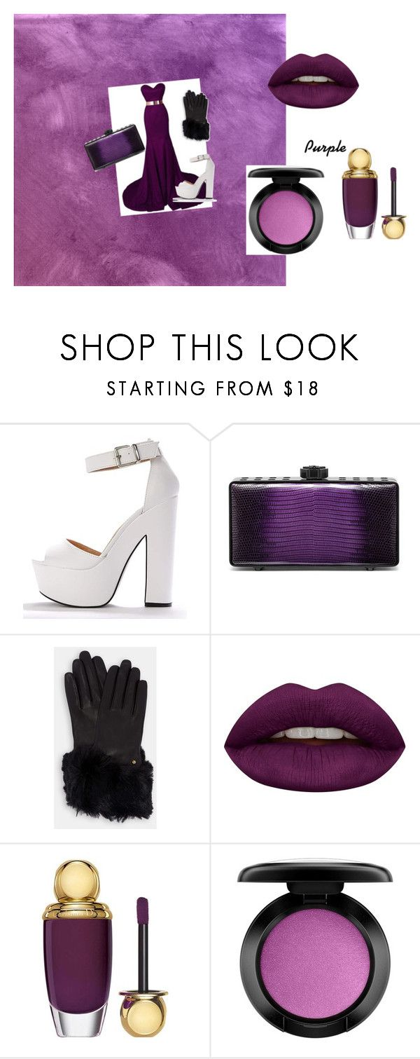 """""""Purple"""" by queen-mallorie ❤ liked on Polyvore featuring Bougeotte, Ted Baker, Huda Beauty, Christian Dior and MAC Cosmetics"""