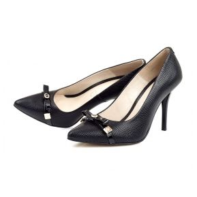 Black casual high heel shoes