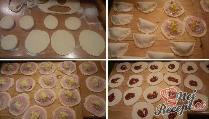 Pizza kapsičky se šunkou a sýrem