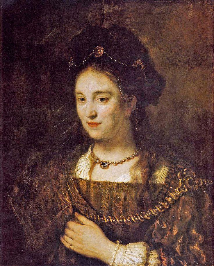 Rembrandt  Saskia as Lady [1643]  Berlin Gemälde Galerie