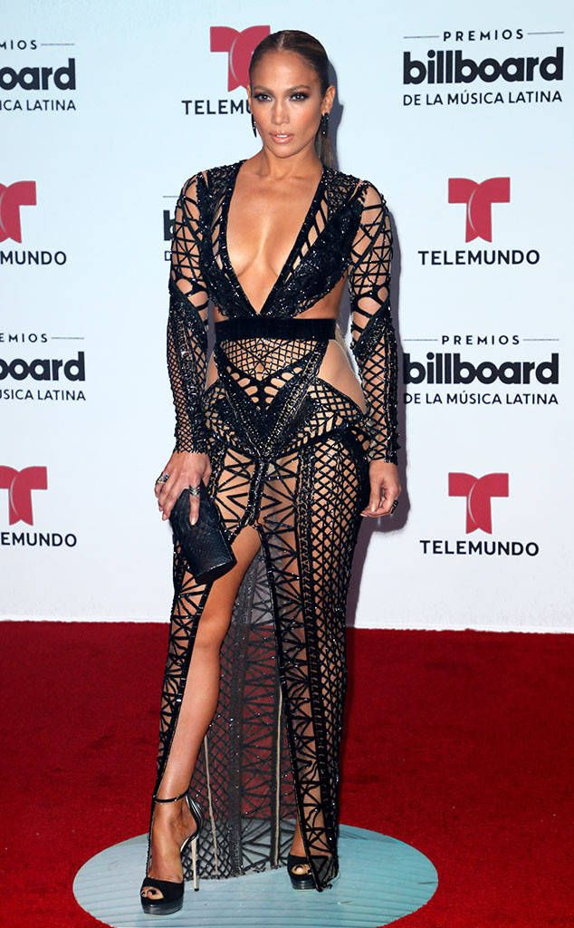 Jennifer Lopez from Billboard Latin Music Awards 2017 Red Carpet Arrivals  Who's ready to live it up? The A-list singer doesn't disappoint with her Julien Macdonald gown before taking the stage.