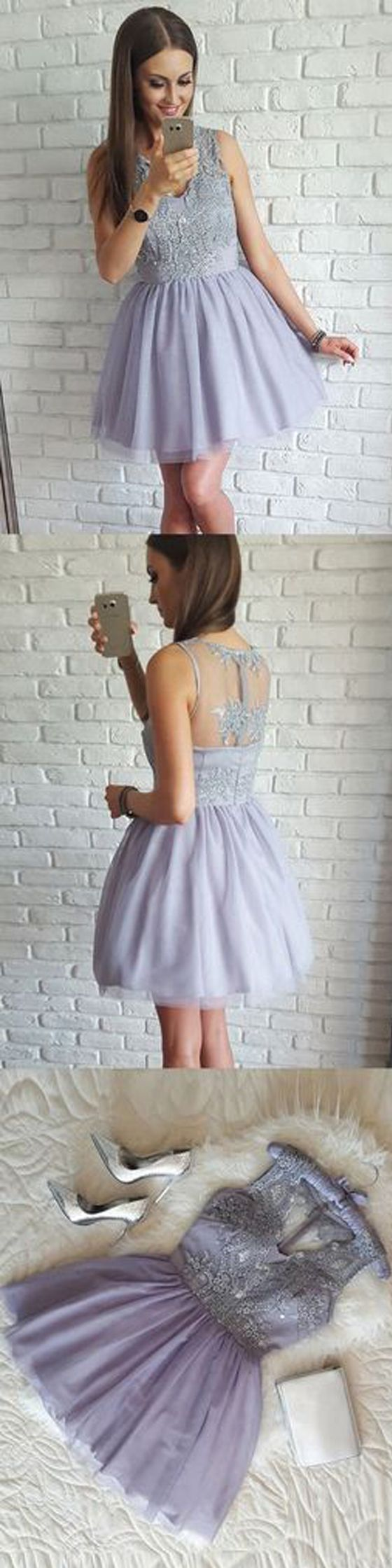Cheap Lovely Lavender Junior Graduation School Short Homecoming Dresses, BG51631 #homecomingdress #homecoming