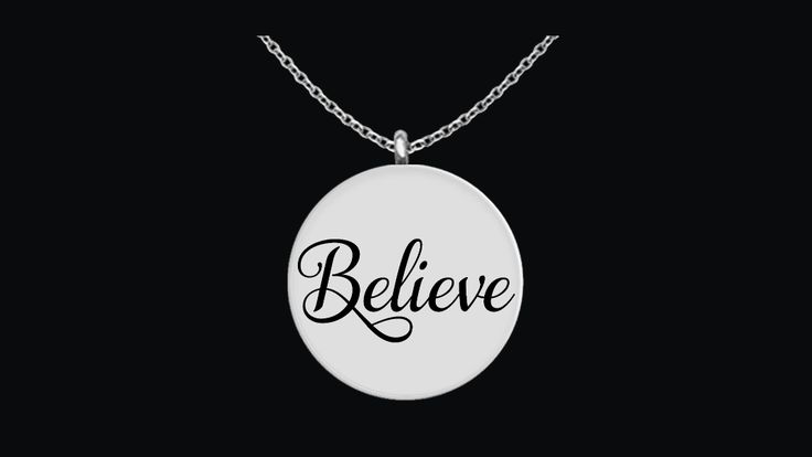 Believe Laser Engraved Necklace  .  *Believe Laser Engraved Necklace Pendant - Choice of Stainless Steel or 18K Gold Plated.     *This Believe Necklace is laser engraved on very high quality metals so that it has an incredible shine that you will love every time that you look at it.  Get yours today.