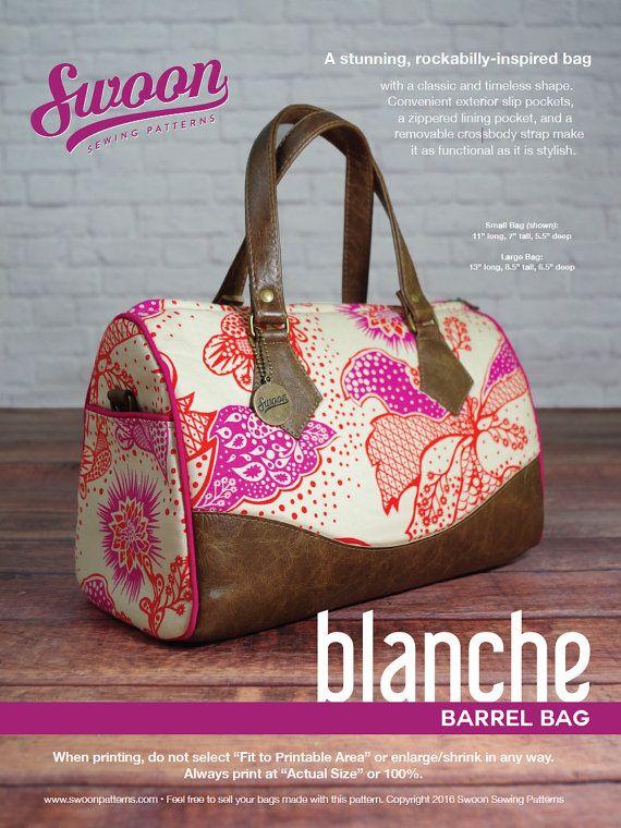 Swoon Patterns: Blanche Barrel Bag  PDF Vintage by SwoonPatterns
