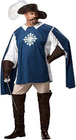 Musketier Kostüm Übergröße Karneval Fasching Herren Verkleidung Größe XXXL