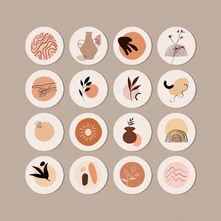 Boho Aesthetics Instagram Story highlight icon covers