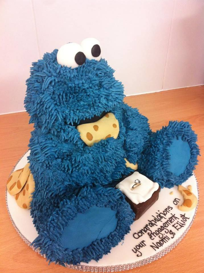 cookie monster gateaux