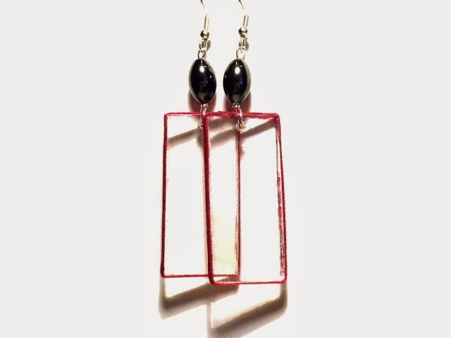 #Plexiglass, #earrings, #simple, #minimal