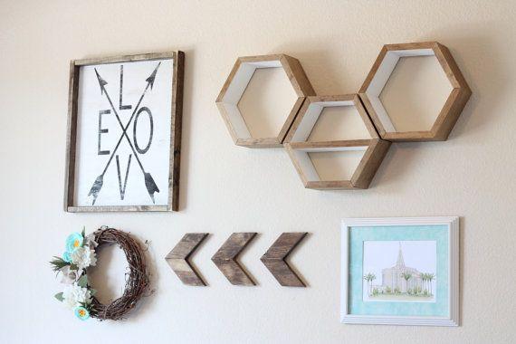 how to make hexagon shelves