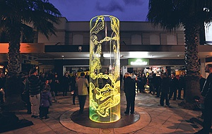 New illuminated plexiglass sculpture unveiled in the main street | Gisborne Herald