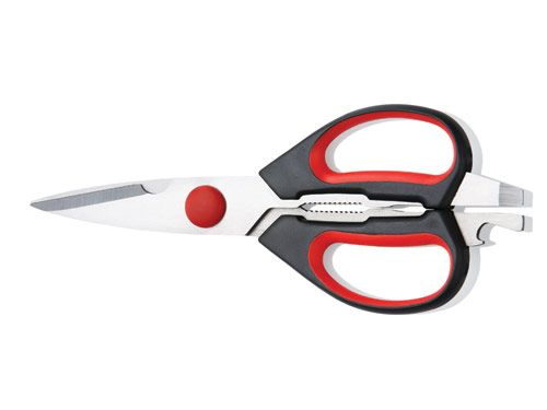 Kitchen Shears AUD$30.00 The ultimate kitchen shears for both left and right handed people. These clever Kitchen Shears make light work of cutting chicken bones and herbs as well as opening bottles and jars.  •Ergonomic handles for comfortable cutting, left or right handed •Blades separate for easy sharpening and cleaning