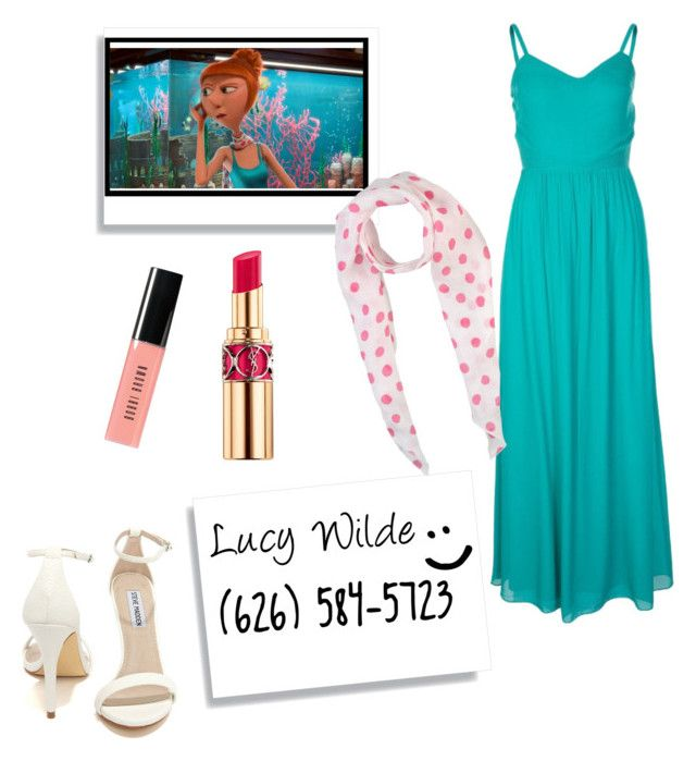 """Lucy Wilde"" by dancearden ❤ liked on Polyvore featuring Naf Naf, Bobbi Brown Cosmetics, Yves Saint Laurent, Steve Madden and ROSSO35"