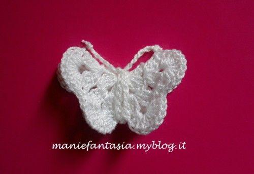 Come fare farfalle uncinetto tridimensionali sono molto for Farfalle decorative per muri