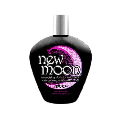 Rio New Moon Indoor Tanning Lotion Dark TAN Enhancer Skin Firming Bronzer Bed by Rio. Save 73 Off!. $16.99. Caffeine and Cocoa Butter. Long Lasting Skin Moisture. Tan Enhancer, Bronzer, Skin Firming. Extreme Bronzer. Fragrance: Floral Spa Essence. Rio introduces an energizing Dark Tanning lotion that will drive your tan further than ever before! The New Moon lotion is filled with extreme bronzers to jump start your tan with the darkest skin imaginable. Then it introduces caffeine ...