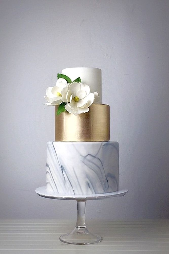 18 Trendy Marble Wedding Cakes Are Beautiful And Luxury They