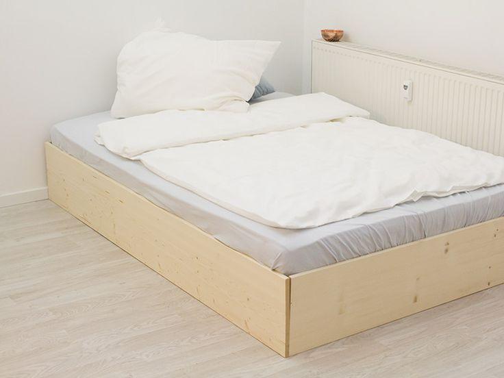 19 besten betten bilder auf pinterest betten schlafzimmer ideen und bett selber bauen. Black Bedroom Furniture Sets. Home Design Ideas