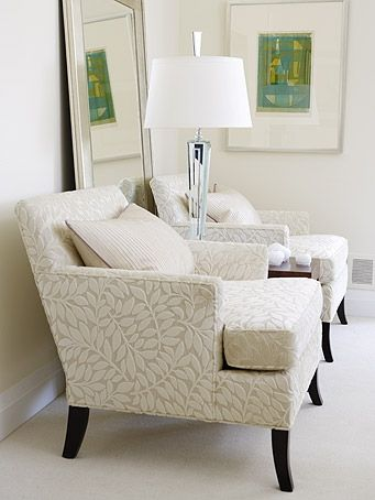 Sarah Richardson Design   Midcentury Family Home   Master Bedroom   Cute  Neutral Chairs