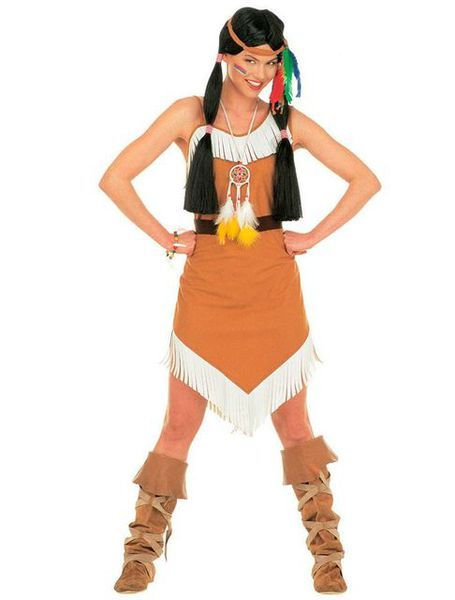 Tässä Seksikkään Inkkaritytön naamiaisasussa voi joko keskittyä jatkamaan intiaanien elämäntapaa tai ehkä kenties sittenkin suunnata kaupungin parhaisiin bileisiin ja laittaa helmat heilumaan. Mekko on yksiolkaiminen ja se on koristeltu valkoisilla hapsuilla. Päänauhaa koristaa värikkäät sulkakoristeet. Hieno naamiaisasukokonaisuus, joka varmasti huomataan! Sisältää: - Mekon - Päänauhan